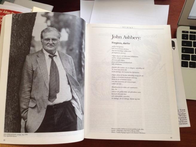 Ashbery i Allt om Böcker