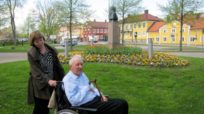 Η Μόνικα και ο Τούμας Τράνστρεμερ στο Βέξιε, 20 Μαΐου 2010.