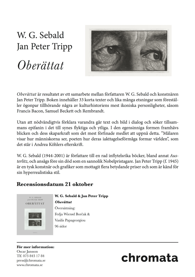 Sebald & Tripp, Oberättat